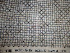 100% Cotton Fabric SSI Debbie Mumm Tiny Red Stars Blue Tan Basket Weave 1 YD