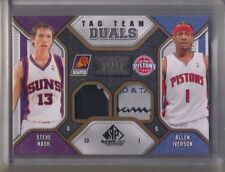 09/10 SP Game Used Tag Team Duals Allen Iverson Nash Laundry Patch #1/10 Jersey