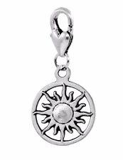 Sun Sunburst Solar Vergina Star Symbol Lobster Clip Dangle Charm for Bracelets