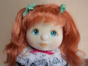 My child doll auburn hair aqua blue eyes