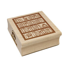 Bookcase of Books Square Rubber Stamp for Stamping Crafting