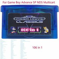 106 in 1 Games Sega Master System GBA SMS Replace for Advance SP NDS Multicart