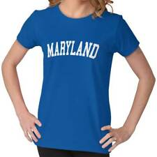 Maryland Athletic Student Gym Vacation MD  Womens Short Sleeve Ladies T Shirt