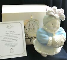 Lenox Snowy Elegance Snow Girl Ivory Snowman Collection 2003 Nib Coa Sweet