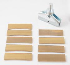 Fret Press Caul with 9pcs. Radius Brass Inserts for Fret Wire installing