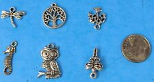 6pcs Tibet Silver Pendants LOT #29 Mixed Crafts Jewelry Making Charms