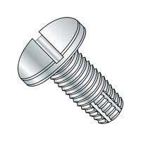 1//2 Length #6-32 Thread Size Pack of 100 Zinc Plated Steel Thread Cutting Screw Type F Hex Head Slotted Drive