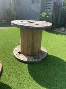 Large Wooden Reel Possible Outdoor Table WEST YORKSHIRE