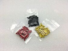 BLACK, RED, GOLD, 30 each Bike Bicycle Shift Brake Cable Ends Tips Caps Crimps