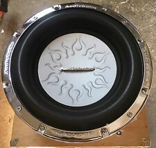 """New Old School Audiobahn AW1206Q 12"""" Dual 4 Ohm Flame Subwoofer,Rare,W/ Grill"""