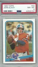 1988 Topps football card #23 John Elway, Denver Broncos graded PSA 8