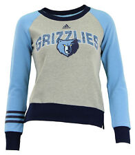 Adidas NBA Youth Girls Memphis Grizzlies Amethyst Fleece Crew, Grey
