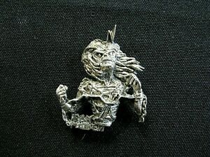 IRON MAIDEN OFFICIAL SMALL VINTAGE PEWTER PIN BADGE BUTTON UK IMPORT POKER