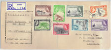 Nyasaland 1953 FDC Definitive Set 1/2d to 6d [8] Zomba Bulawayo  Barham-Green