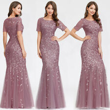 Ever-Pretty US Short Sleeve Long Evening Party Prom Dress Mermaid Celebrity Gown