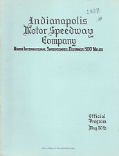 1927 Indianapolis 500 Mile Sweepstakes Official Program REPRINT