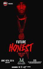 """FUTURE """"HONEST TOUR 2014"""" NASHVILLE CONCERT  POSTER- Hip Hop, Rap Music"""