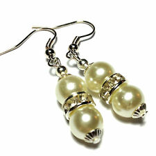 Silver Plated Drop/Dangle No Stone Round Costume Earrings