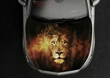Lion Car Hood Wrap Full Color Vinyl Sticker Decal Fit Any Car