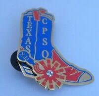 Texas CPSO Pin Cowboy Boot Western Enamel Destination Imagination Organization
