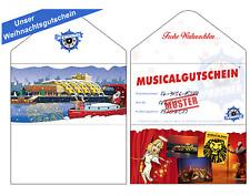 2 MUSICAL TICKETS KÖNIG DER LÖWEN PK 3 + CD / Gutschein zu Weihnachten / Karten