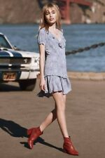 Spell and the Gypsy Designs Celestial mini dress in Chambray. Size XXS. BNWT