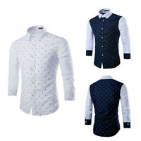 Men's Luxury Casual Slim Fit Stylish Formal Dress Shirts Long Sleeve T-Shirt New