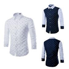 Men's Luxury Casual Slim Fit Stylish Formal Dress Shirts Long Sleeve T-Shirt New