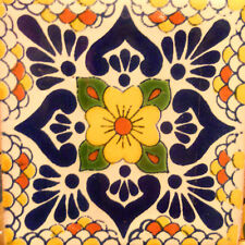 90 MEXICAN CERAMIC TILES WALL OR FLOOR USE CLAY TALAVERA MEXICO POTTERY #C118