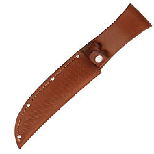 """Brown Basketweave Leather Replacement Belt Sheath Fits Up To 6"""" Blade 1135"""