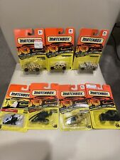 Lot Of 7 Matchbox Military Hummers Jeep Choppers New Sealed Mint On Card