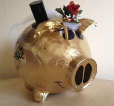 Sparschwein XXL Geldgeschenk Goldene Hochzeit Briefbox Kartenbox Umschlagbox Box