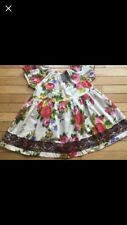 Matilda Jane Deliah Floral Peasant Top Size 10 NWT