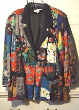 Vintage 1980s Nothing Matches Patchwork Suit 1X Jacket + Broomstick Skirt   EUC