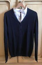 Maglia collo camicia Versace Jeans Couture - Blu e Bianco - Tg. S - 8/10 - Shirt
