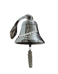 "6""  Nautical 7"" Brass Ship - Bells Hanging Bell Nautical Wall Decor"