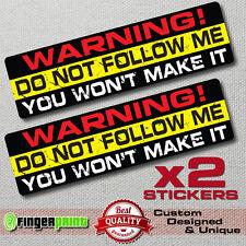 DO NOT FOLLOW decal sticker vinyl funny bumper jdm 4X4 SUV JEEP OFFROAD GMC 4WD