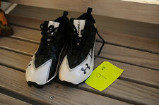 Under Armour Hammer football cleats size 9 mens white black
