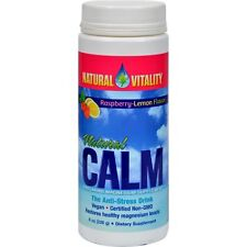 Natural Vitality Natural Calm Magnesium Raspberry-Lemon Flavor - 8 Oz