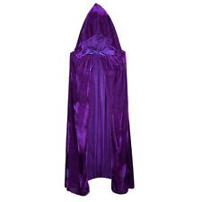 Velvet Halloween Costumes Cloaks Hood Cape Unisex Adult Cosplay Coats Black Red