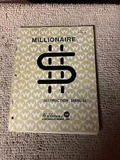 Missing Last 2 Original Williams Millionaire Pinball game manual