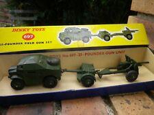 DINKY 697 POUNDER FIELD GUN SET ARTILLERIE COMME NEUF, BELLE BOITE D'ORIGINE