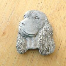 Rawcliffe Pewter Dog Head Magnet, 1984, English Springer Spaniel