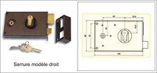 Serrures en applique avec clé pour portails à vantaux  réf 19274