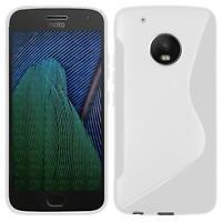 Handy Hülle Motorola Moto Z Ultra Slim Case Silikon Cover Schutz Tasche Weiss