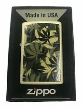 Zippo Custom Lighter  Weed Marijuana Pot Leaf Camo Camoflage Double-Sided Design