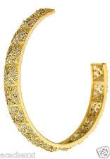 Joanna Laura Constantine Sparkle Clear Zircon Gold Pyramid Studs Cuff Bracelet