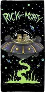 Rick and Morty UFO Spaceship Character 100% Cotton Beach Towel Kids Childrens