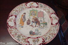 "La Cruche Cassee plate from U&C SARREGUEMINES, Signed ""F.R"", Richard FROMENT[80]"