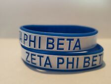 Zeta Phi Beta Sorority Wristbands Set of 2 Free Shipping